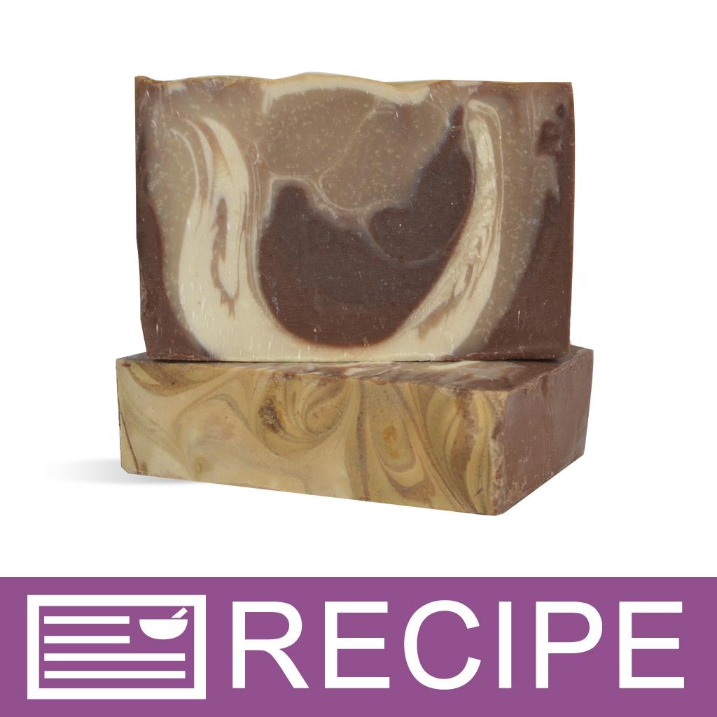 Vanilla Bean with Cocoa Swirl CP Soap Recipe - Wholesale