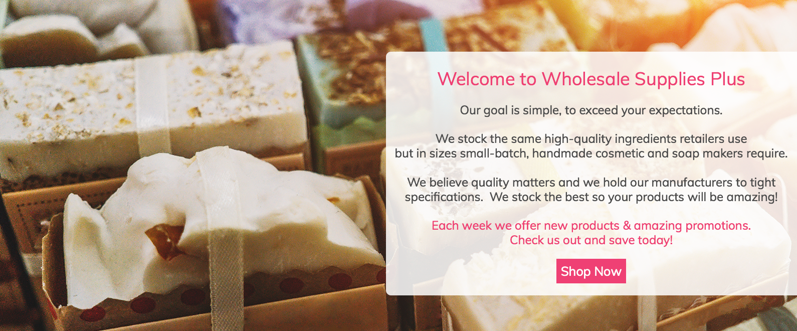 Wholesale Soap Making Supplies and Handmade Cosmetic