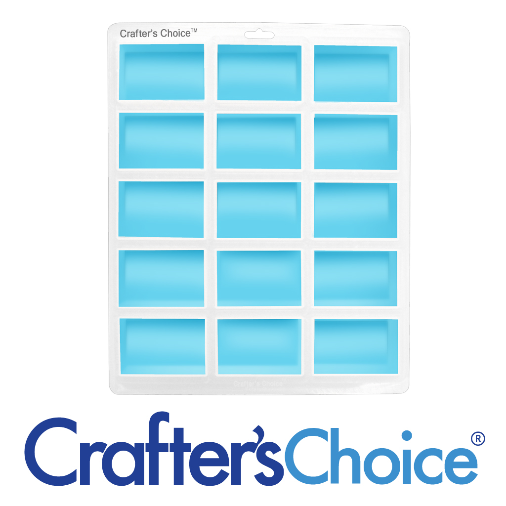 Crafters Choice 15 Cavity Euro Rectangle Silicone Soap