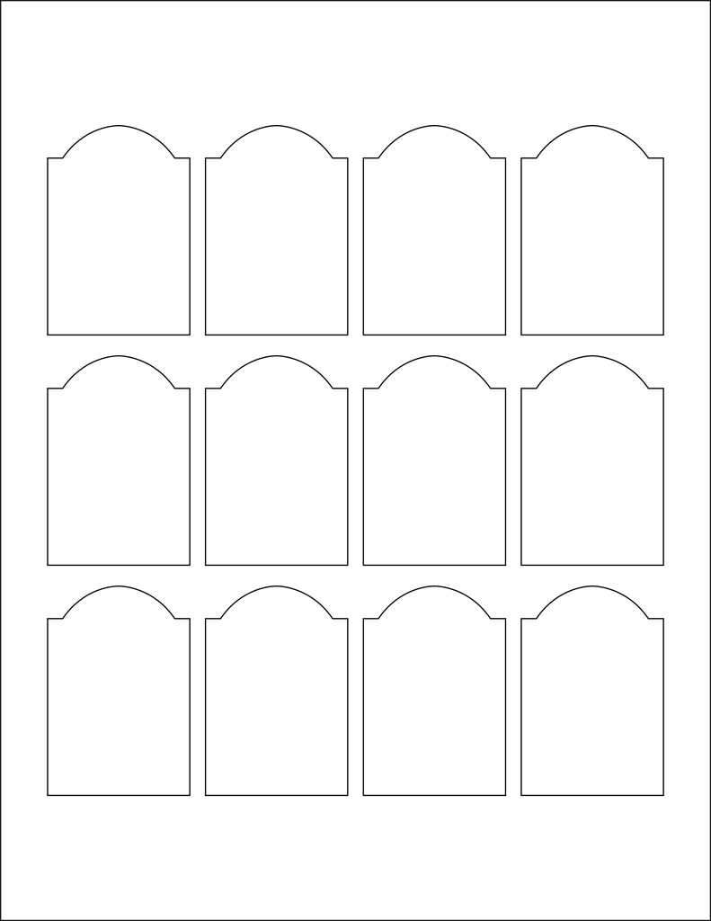 White Glossy Labels - 1 7 x 2 5
