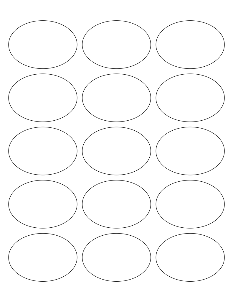 White Glossy Labels 2 5 X 1 7 Quot Oval L 6 Wholesale