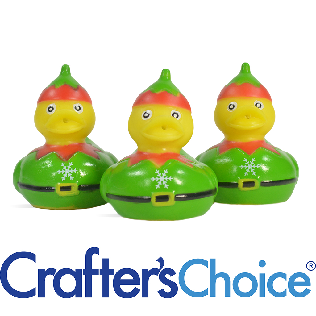 Christmas Duck.Crafters Choice Christmas Elf Duck Toys Wholesale Supplies Plus