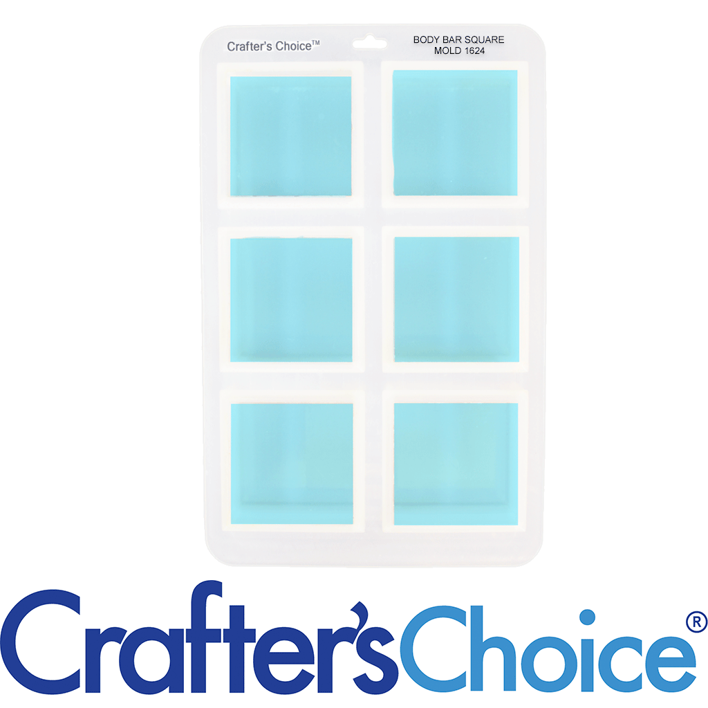 Crafter's Choice™ Body Bar Square Silicone Mold 1624