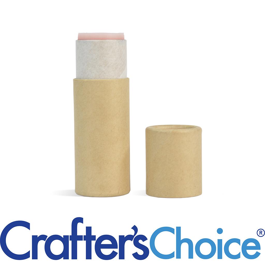 25 White Paper Lip Balm Tubes .3 oz 1//3 oz Eco Friendly Cardboard Containers