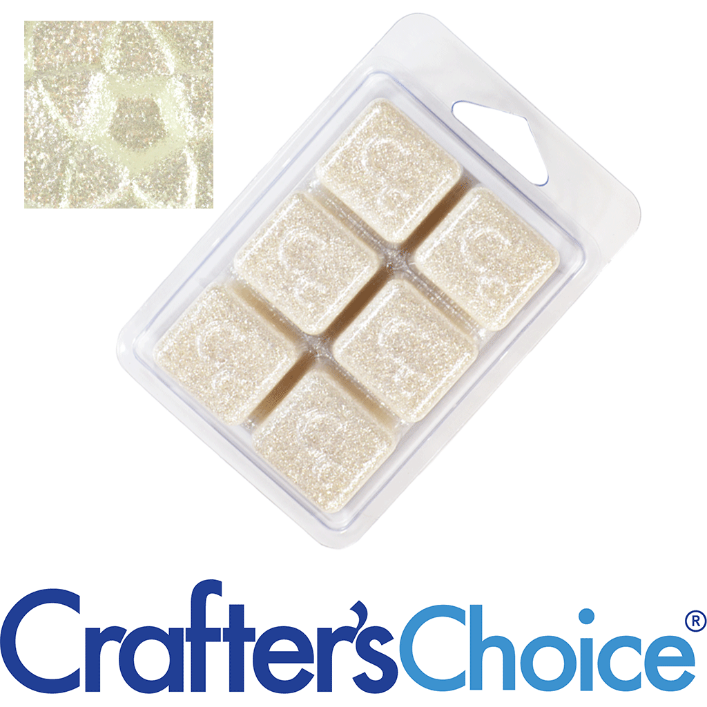 Crafters Choice™ White Diamonds Sparkle Mica Soap Color Blocks