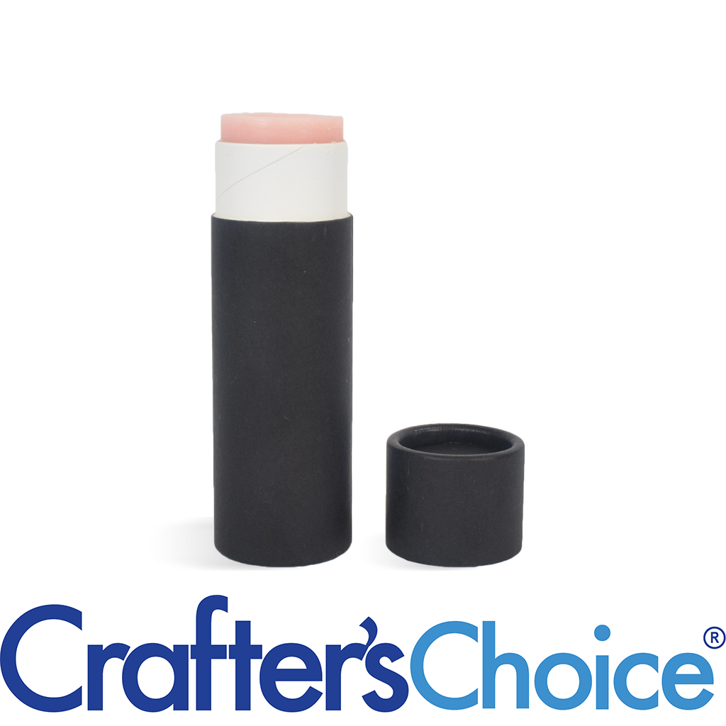 Crafters Choice™ 0.5 oz Black Paperboard Tube & Cap Set - Push Up