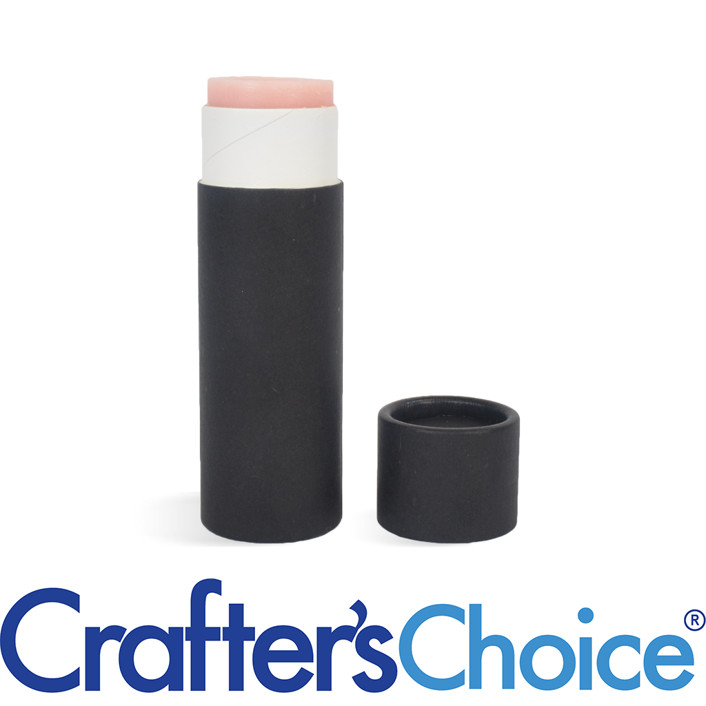 Crafters Choice™ 01 oz Black Paperboard Tube & Cap Set - Push Up