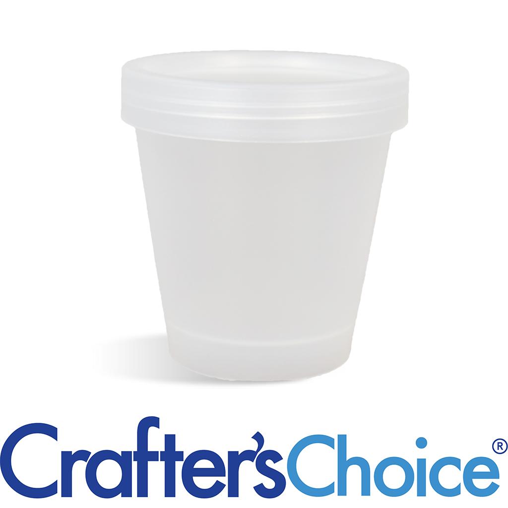 6.7 oz Natural Plastic Pot & Lid Set