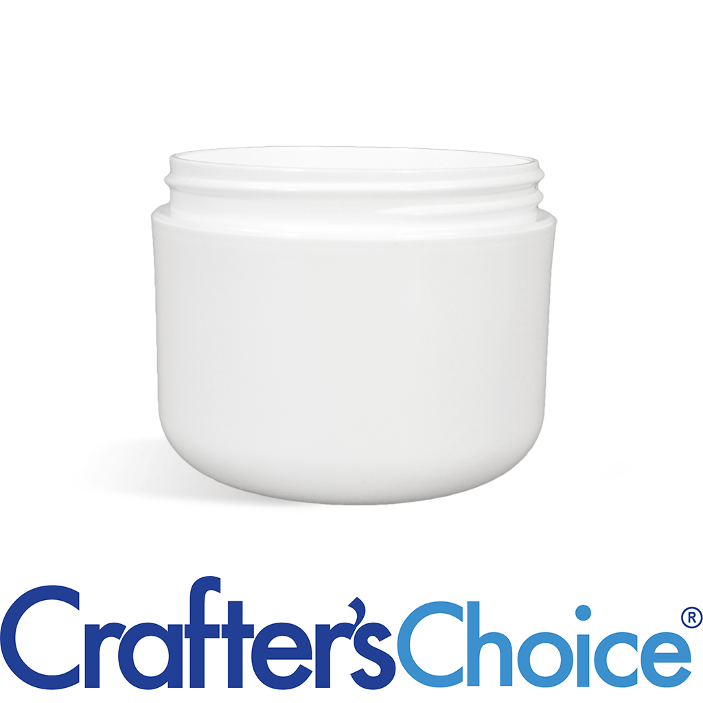 02 oz White Double Wall Plastic Jar - 58/400