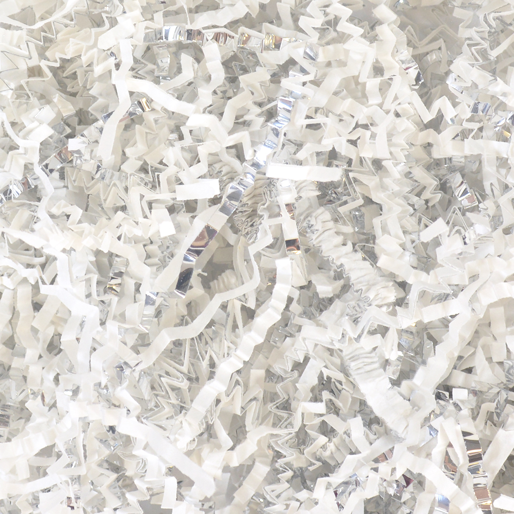 Crinkle Paper Filler White Amp Metallic Silver Wholesale