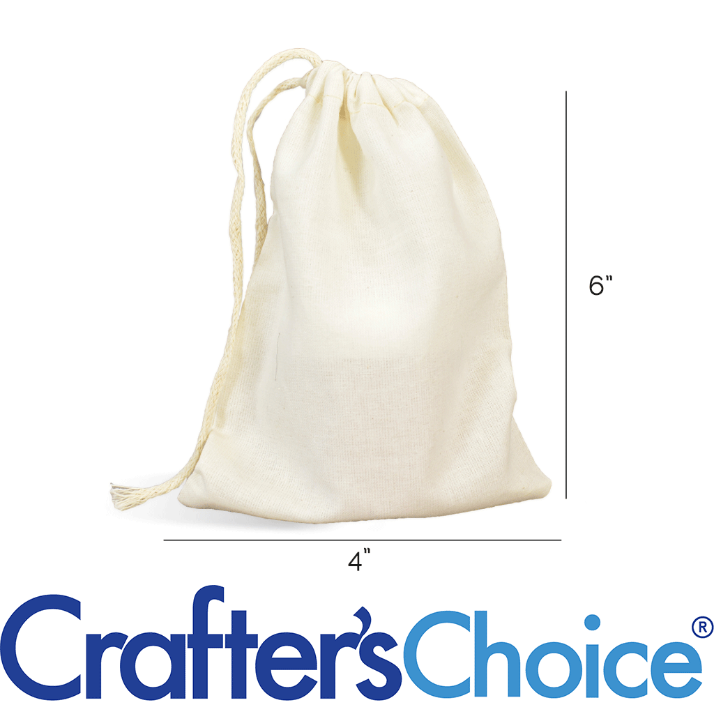 Natural Single Drawstring 3 x 4 Inches Cotton Muslin Bag Wholesale Prices