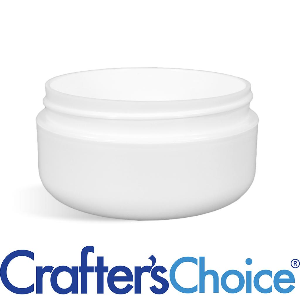 02 oz White LOW PROFILE Plastic Jar - 70/400