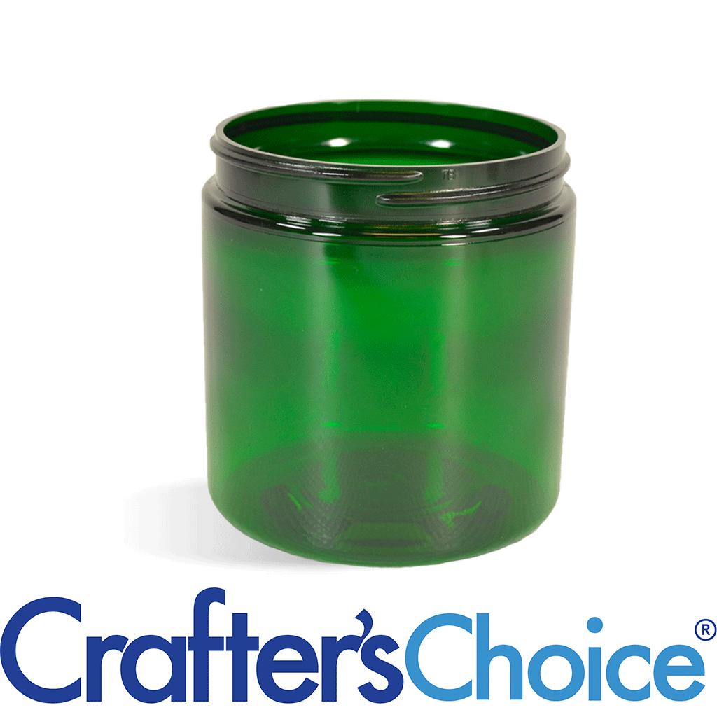 04 oz Green Basic Plastic Jar - 58/400 - Wholesale Supplies Plus