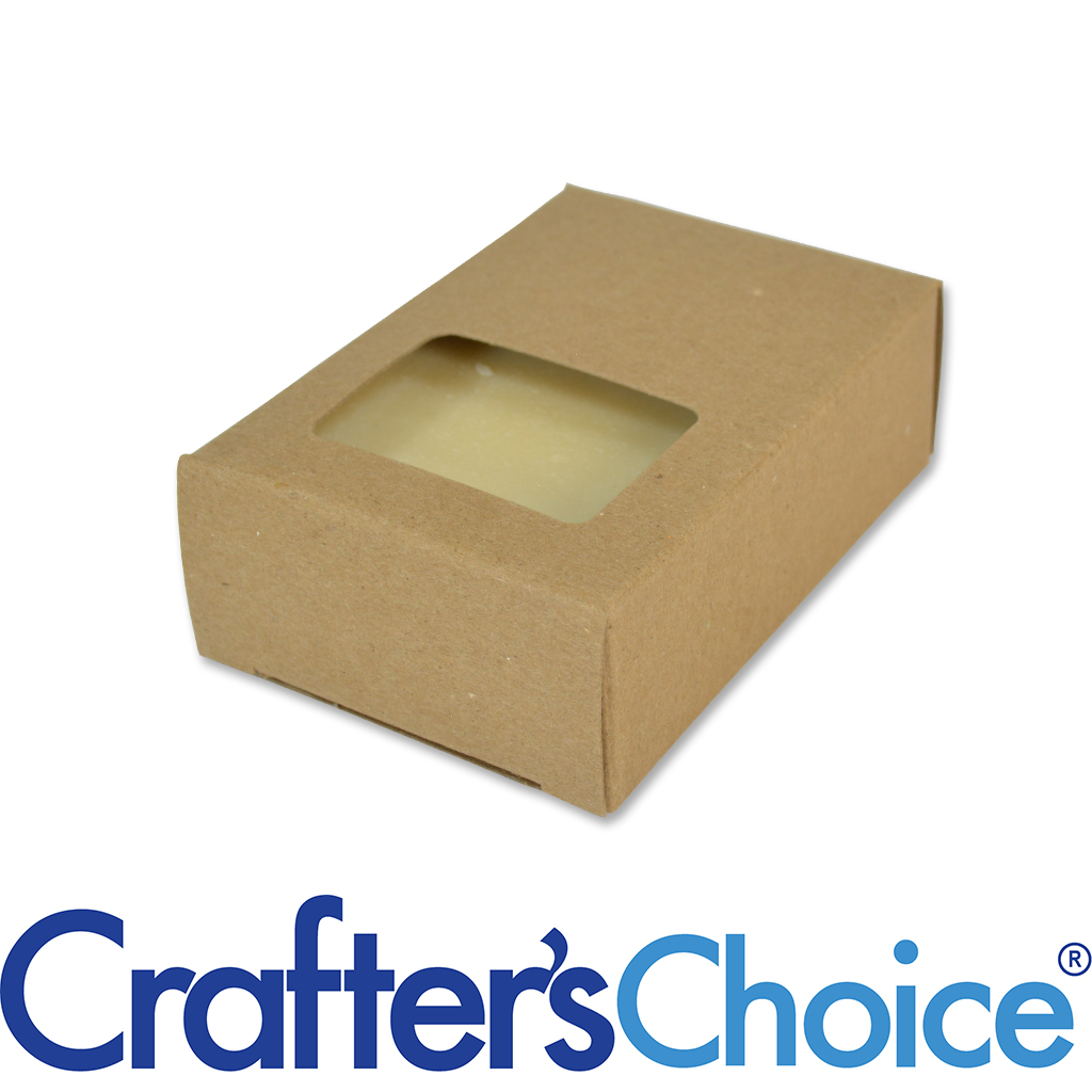 Crafter's Choice™ Soap Box - Rectangle Window (KRAFT COLOR)