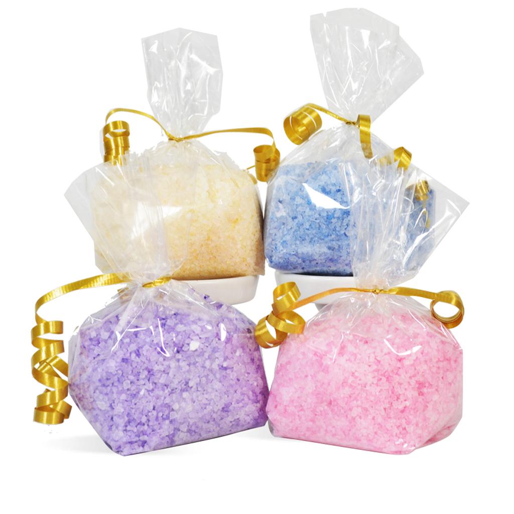 spa bath salt scents kit salts wholesale supplies four colors