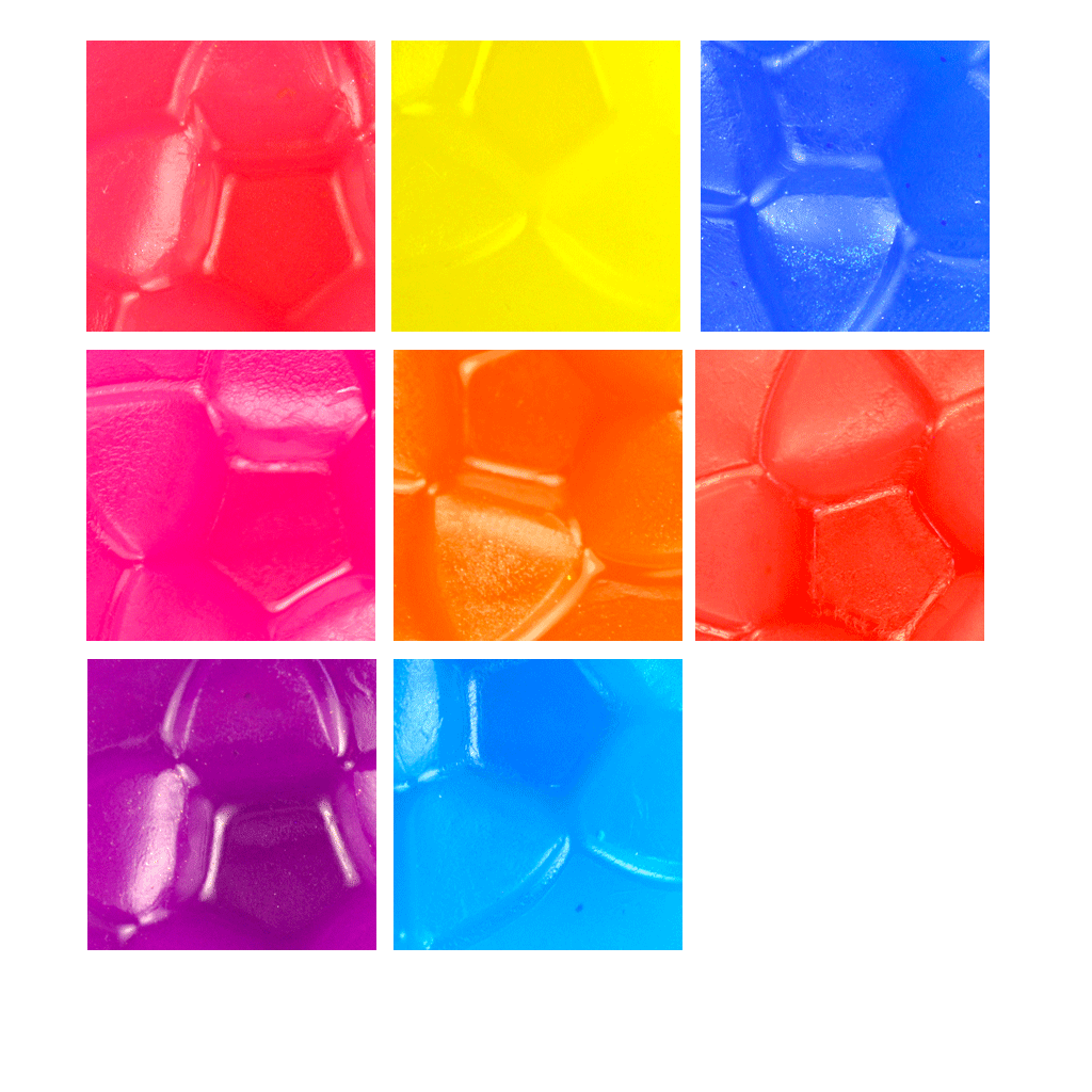 Bright Neon Soap Color Bar Sample Set Wholesale Supplies