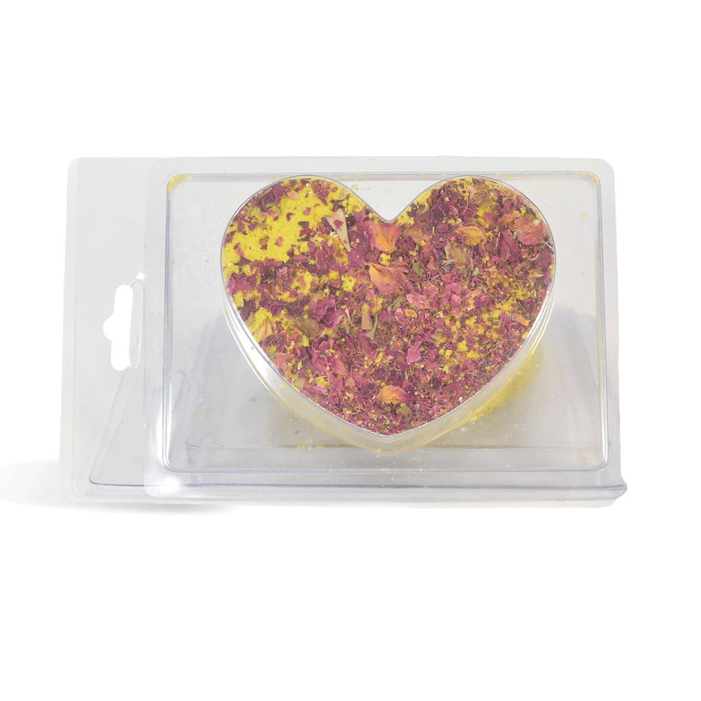 Heart with Rose Petals Bath Fizzie Kit