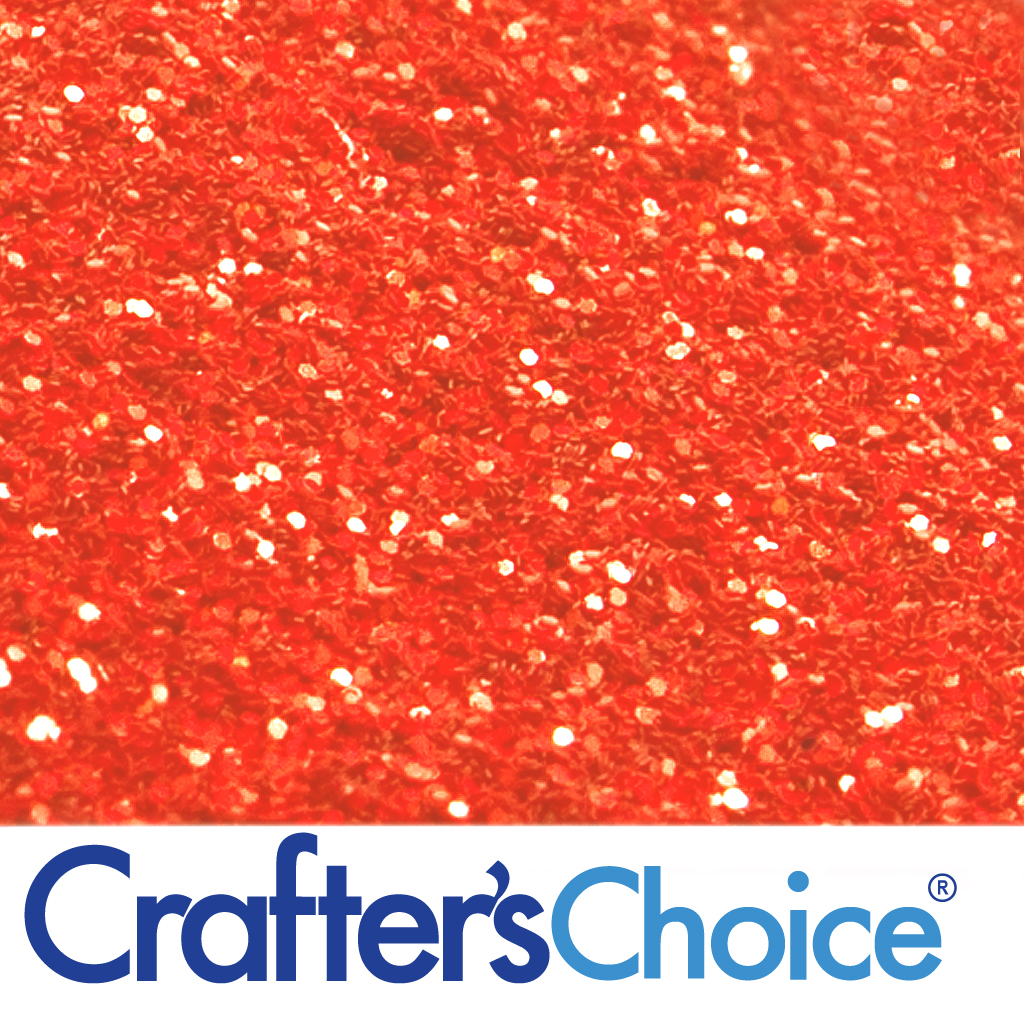 Crafters Choice™ Traditional - Red Orange Glitter - Wholesale Supplies Plus