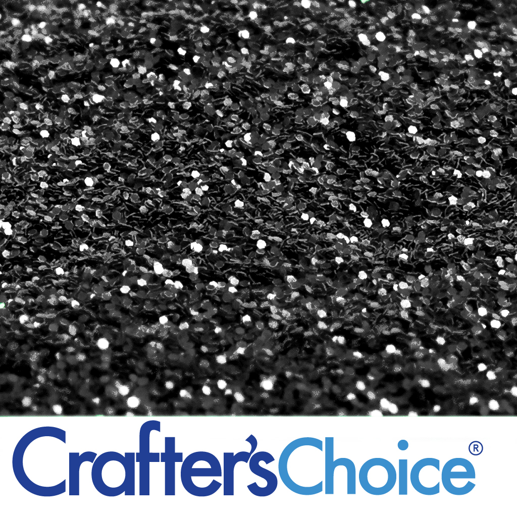 Crafters Choice Jet Black Glitter Wholesale Supplies Plus