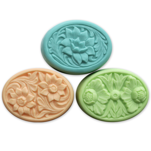 Milky Way™ Floral Ovals Soap Mold (MW 74)
