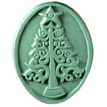 Milky Way™ Christmas Tree Oval Soap Mold (MW 94)