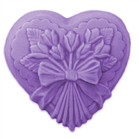Heart with Tulips Soap Mold (MW 131)