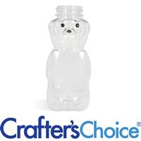 08 oz Clear PET Honey Bear Bottle - 38/400