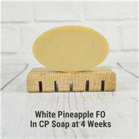 White Pineapple FO in CP Soap