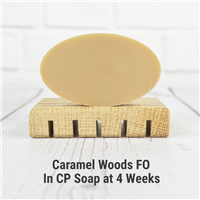 Caramel Woods FO in Cold Process Soap
