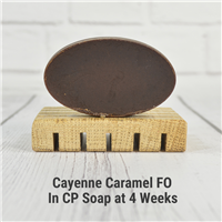 Cayenne Caramel FO in CP Soap