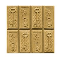 Lock and Key Soap Mold Tray (MW 185)