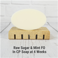 Raw Sugar and Mint Fragrance Oil in CP Soap