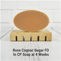 Rose Cognac Sugar FO in CP Soap
