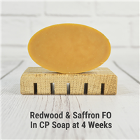 Redwood & Saffron FO in CP Soap
