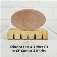 Tobacco Leaf & Amber FO in CP Soap