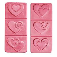 Break-A-Way Hearts Soap Molds (MW 201)