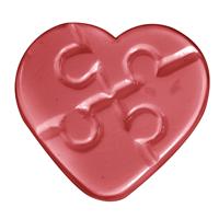 Autism Heart Soap Mold (MW 451)