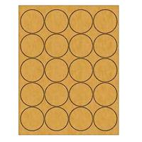 """Kraft Labels - 2.0"""" Circle (B 3)"""