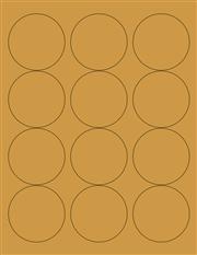 """Kraft Labels - 2.5"""" Circle (B 10)"""