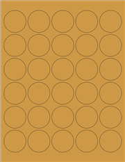 "Kraft Labels - 1.5"" Circle (A 6)"