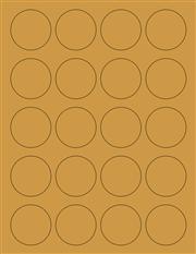"Kraft Labels - 1.7"" Circle (A 8)"