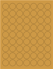 "Kraft Labels - 1.0"" Circle (A 4)"