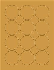 """Kraft Labels - 2.2"""" Circle (B 6)"""