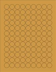 "Kraft Labels - 0.75"" Circle (A 3)"