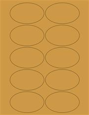 "Kraft Labels - 3.2 x 2.0"" Oval (C 5)"
