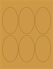 """Kraft Labels - 2.5 x 4.2"""" Oval (B 9)"""