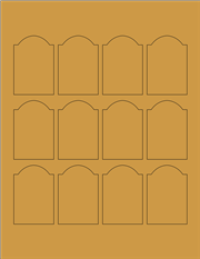"Kraft Labels - 1.7"" x 2.5"" Arched (A 10)"
