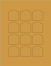 "Kraft Labels - 1.7"" x 1.7"" Arched (A 9)"