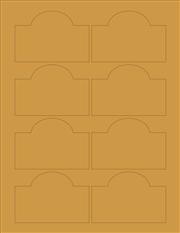 """Kraft Labels - 3.5"""" x 2.4"""" Arched (C 9)"""