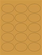 """Kraft Labels - 2.5 x 1.7"""" Oval (B 8)"""